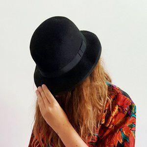 1990's Felted Wool Esprit Fedora Hat